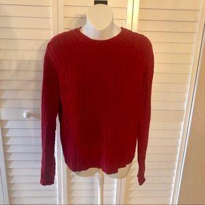 ❤️Karen Scott Red Pullover Sweater MED Valentines